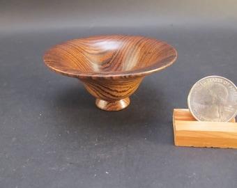 Bowl Bocote wood, small tiny decorative hand turned