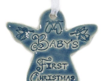 Baby's First Christmas Angel Ornament