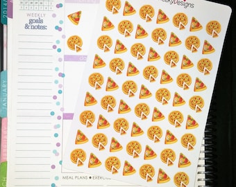 Pizza Stickers!  Perfect for Erin Condren Life Planner, MAMBI/Happy Planner, Plum Planner, Etc.