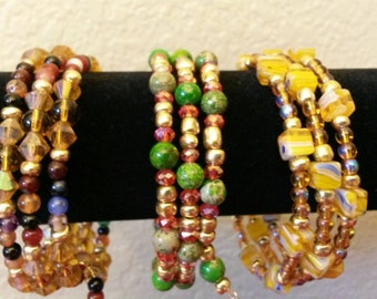 Set of 3 Memory Wire Bracelets