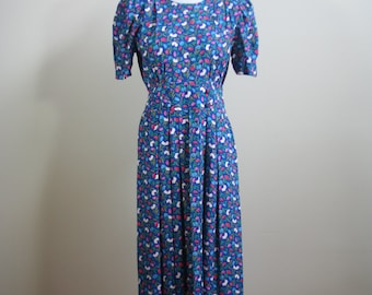 Blue Country Floral Dress