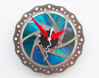 bike parts clock, Bike Gear Clock, bicycle parts clock, cyclist gift, boyfriend gift,  unique repurposed bike clock, Recycled Bike Clock