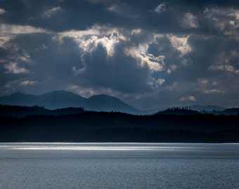 Afternoon in the Inside Passage in Alaska - Fine Art Print