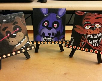 Five Nights at Freddy's Trio Paintings