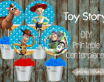 Toy Story Centerpieces, Toy Story Decorations, Toy Story Birthday, Toy Story Party, Toy Story Party Supplies, Disney Toy Story, Woody & Buzz
