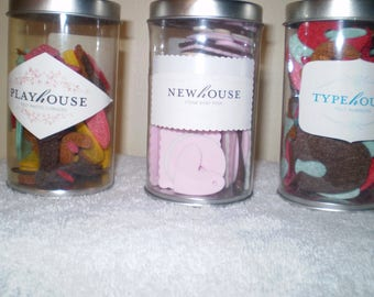 American Crafts:  Playhouse, Newhouse, Typehouse, and Greenhouse Shapes