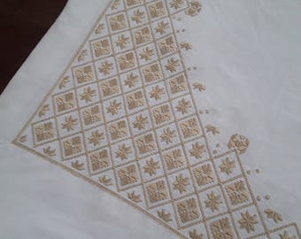 Antique french linen sheet