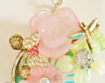 Upcycled Summer Gardens Necklace