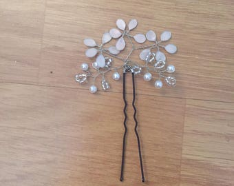 Hairpin Hair flower with pearls