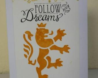 Lion Dreams Card