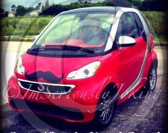 Giant Car Mustache Vinyl Decal - The Handlebar- Little Man Party- Mustache Sticker- Car Decal- Handlebar Mustache