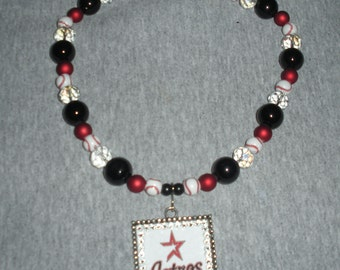 Astros Pendant on Team Spirit Beads