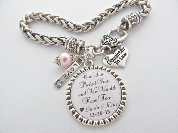 DAUGHTER In LAW Gift Bride to be Gift Daughter in law Charm