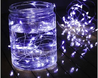 5m Battery Powered Copper Wire String Lights