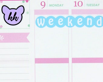 F056 - Weekend Banner Stickers
