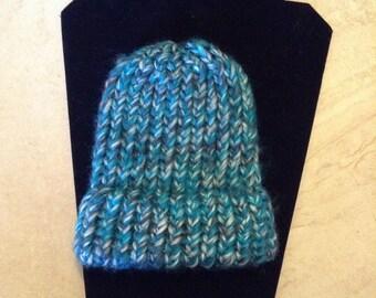 Newborn hand knitted hat