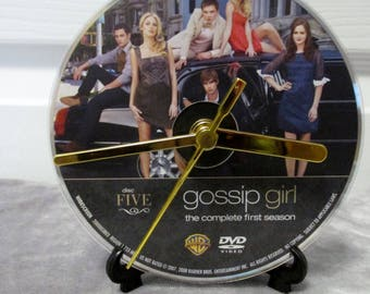 Gossip Girl DVD Clock Upcycled TV Show