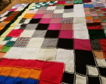 New Handmade Giant Patchwork Knitted Quilt 6×6