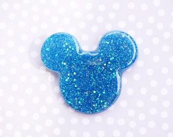Mouse Brooch - Mermaid Tail Blue Mickey Brooch