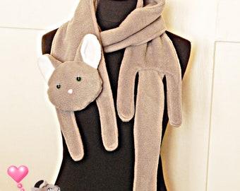 Cat Scarf Grey