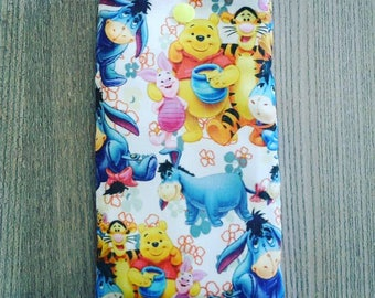 Pooh theme quilted eyeglass or Sunglass case