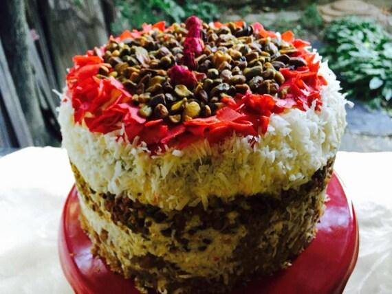 Vegan Vanilla Pistachio Coconut  cake, love, animal free cruelty,no eggs,no dairy.