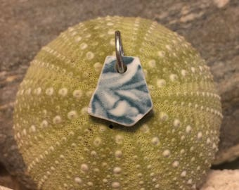 Sea glass jewelry- sea glass pottery charm