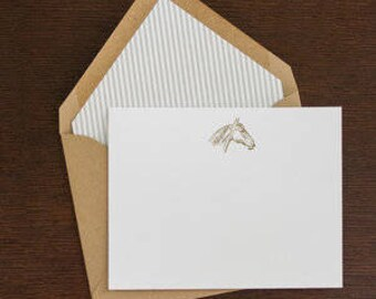 lined thoroughbred stationary