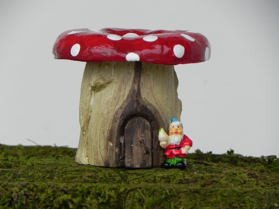 Gnome Garden: Miniature Fairy Garden Mushroom House For Gnome Home