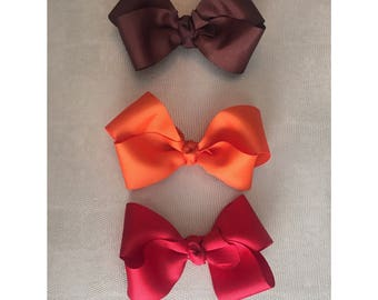 Set of bows,different color set of bows, fall set of bows, set of 3 bows!