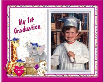 Preschool, Kindergarten, My First Graduation Picture Frame - Friends