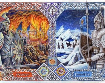 Brothers, Fire and Ice – Art Print