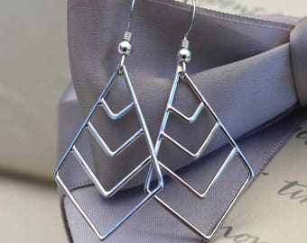 Geometric Chevron Sterling Silver earrings