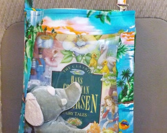 Car organizer car seat organizer toy organizer tropical fish and sea turtles print