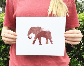 University of Alabama Elephant Print  |  Roll Tide  |  Tuscaloosa  |  Roll Tide