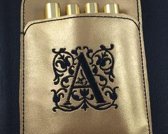 Pen Holder planner band  Monogram- planner bullet journal accessories -best gifts for her