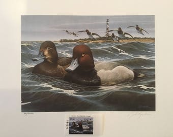 1990 North Carolina Migratory Waterfowl Print and Stamp