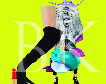 Lady Gaga Collage Print art decor