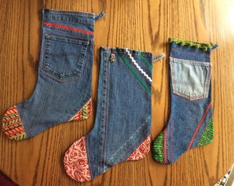 Handmade Denim Stockings