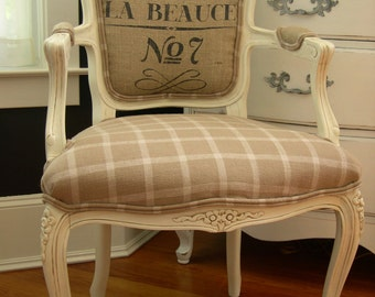 French Grainsack Chair