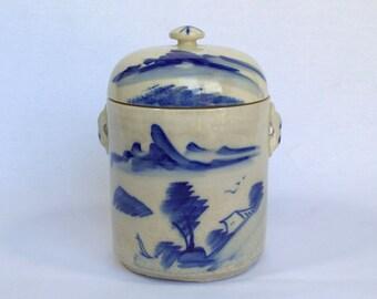 Flow Blue Tea Canister