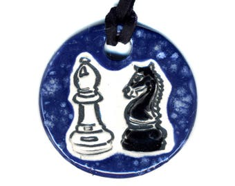 Chess Ceramic Necklace