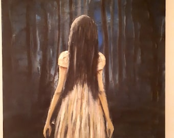 Original Oil painting on stretched Canvas Dark Art