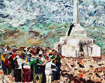 Blessed Mother wall art, Religious art, Medjugorje Yugoslavia, Catholic wall art,  by Johno Prascak of Pittsburgh