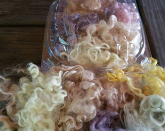Teeswater locks, plant dyed, natural dyed, mother nature's color