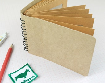 Spiral Envelope Notebook for Small Collecting: tickets, stamps and memories!