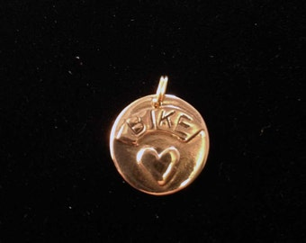"""Bike Jewelry - Brace bike """"heart"""" love pendant only"""
