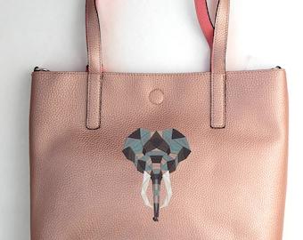 Elephant tote bag Embroidered tote bag Personalized tote bag Monogrammed tote bag Scripture Tote Bag Custom design Gift for her wildlife