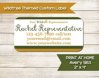 Wildtree | Catalog Labels | Consultant Information Stickers | Wild Tree | Custom | Print at Home | Avery 5163