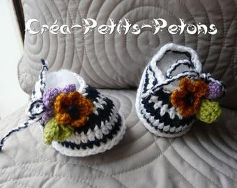 Crochet slippers wild booties